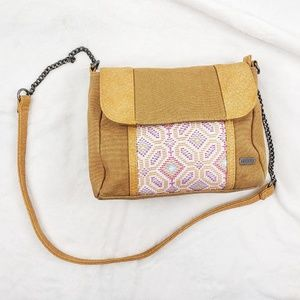 Roxy canvas crossbody bag cute details